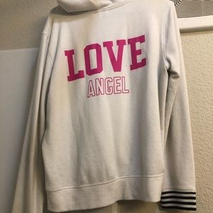 PINK zip-up sweatshirt